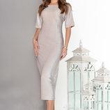 Очаровательное Вечернее платье с ложным запахом по спинке 44-50р