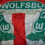Спортивний оригинал фирменний футбольний шарф .ф.к вольсбург германия .