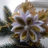 Новогодняя обруч для девочки снежинки