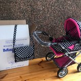 Детская кукольная коляска-трансформер 3в1 Марио, Mario Польша, Не Китай коляска для куклы