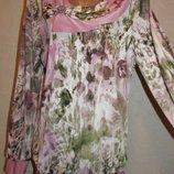 Блуза Розовый рассвет большой размер