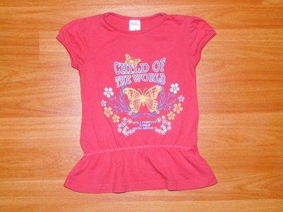 Розовая футболка с бабочками,98, 3 года Состояние новой