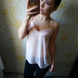 Красивенная нежная майка блузка персикового цвета