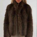Шуба -полушубок р.S Glitz&Glam из искусственного меха под страуса