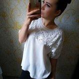 Шикарная нарядная кофта блузка гипюр кружево цвета айвори