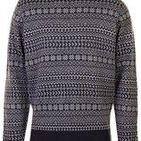 Мужской свитер, джемпер в новогодний принт George casual