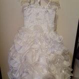 Шикарное платье для праздника, пышное.