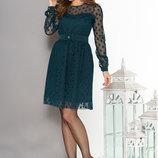 Праздничное двухслойное платье с пышной юбкой 42-48р