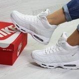 Зимние женские кроссовки Nike 95 white