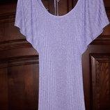 Нежно-Сиреневая кофта плиссировка, блуза с блесом