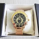 Часы Наручные Женские Часы Золото Черный Циферблат