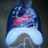 Очень тёплая шапка Тачки
