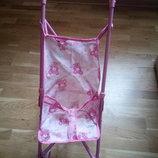 Легкая складная коляска-трость для кукол