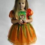 Пышное платье тыковка тыква хеллоуин