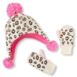 Комплект шапка и перчатки варежки краги для девочки 6-12мес, 12-24мес, 2-3года Childrens Place