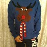 Новогодний свитер George. р.L, 50-52