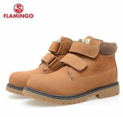 Кожаные демисезонные ботинки Фламинго для мальчика р.33