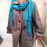 Фирменное женское полупальто из шерсти шарф в подарок. Великобритания. Richard shops