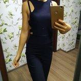 Комбинезон вечернее платье праздничное шикарный размер хс.6 черный