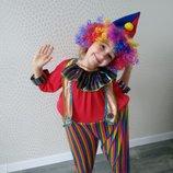 Костюм клоуна Клоун Клоунесса кукла детские карнавальные костюмы. прокат.