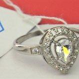 Кольцо перстень новое серебро 925 проба 1,75 грамма размер 17