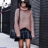 Женский теплый свитер горло