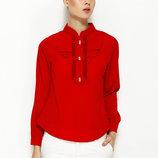 Красная женская блузка MA&GI с бантиками