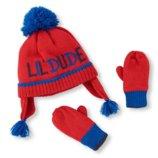 Комплект шапка и перчатки варежки для мальчика 6-12мес, 12-24мес,2-3года,4-5лет Childrens Place