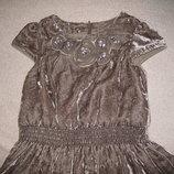 Велюровое платье Mini Boden 5-6л