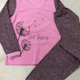 Пижама для девочки внутри байка на рост 128/134