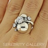 10% скидка подписчикам I 100241 W 18 Кольцо серебряное кольцо размер 18