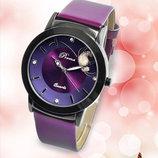 Роскошные женские часы с фиолетовым ремешком код 158