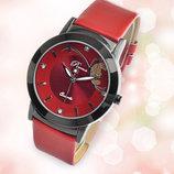 Роскошные женские часы с красным ремешком код 158