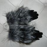 перчатки зима с мехом