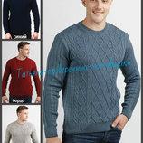 Джемпер вязаный мужской теплый, мужской свитер. теплый джемпер. вязаный свитер. Чоловічий светр