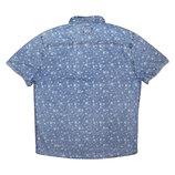 Мужская рубашка джинсовая в узорчик птички River Island L