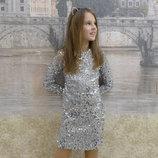Платье, на рост 128, 134, 140, 146, 152, 158 см, арт.ML-014-Пайетка-2-G