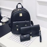 Женский рюкзак набор 3в1. 3 цвета