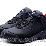 Зимние мужские ботинки в стиле Ecco Aero черные