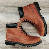 Мужские кожаные зимние ботинки Timberland . Внутри шерсть