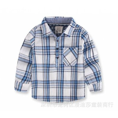 Рубашка в клетку детская р.116