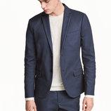 Оригинальный пиджак Slim fit от бренда H&M разм. 48