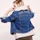 Модная джинсовая куртка Bershka NEW collection