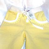 Тёплые светлые штанишки с начесом для девочки.
