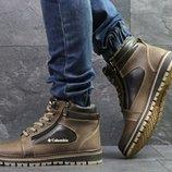 Columbia ботинки мужские на зиму коричневые с черным 6988