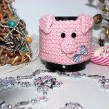 Символ года -чехол на чашку хрюндель Грелка на кружку, новогодний подарок