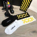 Носки 2 пары Socks Off White Pack 2 Black-Yellow/White-Yellow