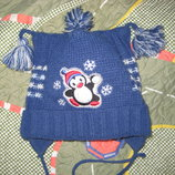 Детская зимняя шапка на мальчика на 2 - 4 года