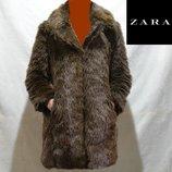 Брендова шуба жіноча акрилова Zara Basic L В'єтнам женская