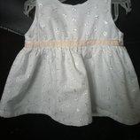 Нежное нарядное платье маленькой Снежинки. новогодние костюмы.